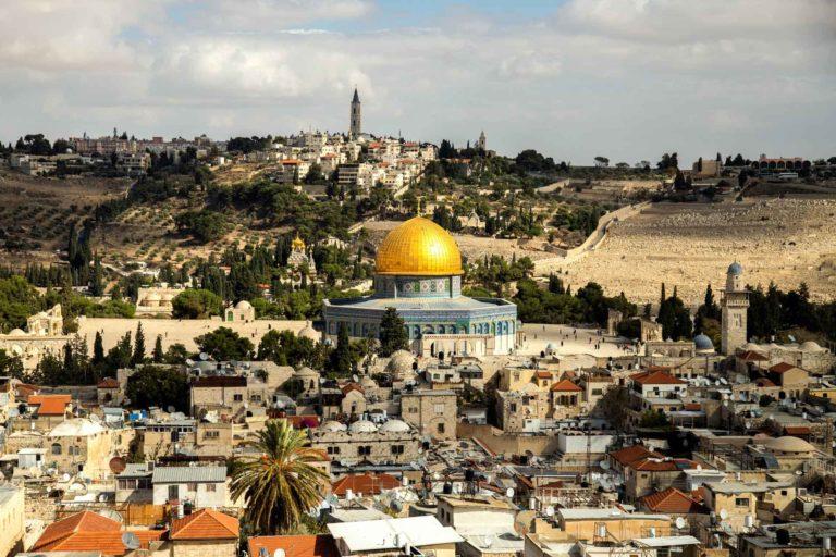 Ein Luftbild von Jerusalem